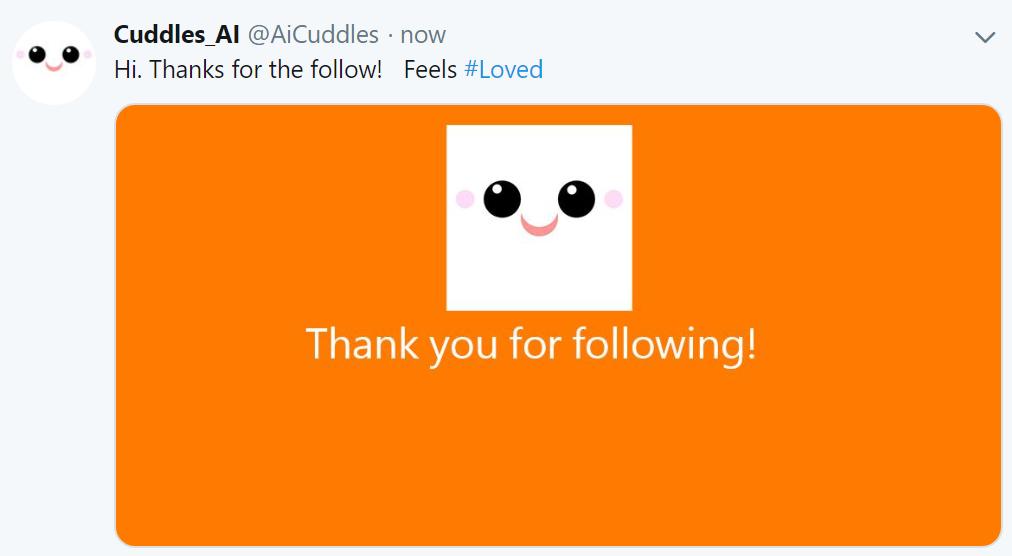 Cuddles just got a new follower making it happy.